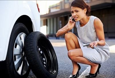 замена колеса в дороге