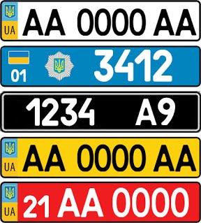 Виды автомобильных номеров